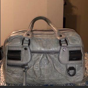 L.A.M.B Good Condition Leather Grey Handbag
